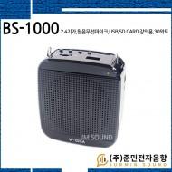 BS-1000/2.4기가,원음무선마이크,USB,SD Card,강의,교육,학교,학원,가이드,선생님마이크,30와트