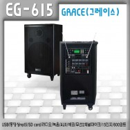 EG-615 /충전식,이동용,행사용,USB,SD card,라디오,녹음,AUX,에코,무선2채널마이크,15인지,600와트