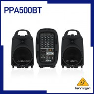 PPA500BT /블루투스,무선 마이크로폰,옵션/KLARK TEKNIK 멀티-FX 프로세서 & FBQ 피드백 디텍션이 탑재된 울트라 컴팩트 500와트,6채널 포터블 PA시스템