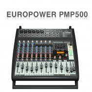 PMP500 /멀티-FX 프로세서,컴프레서,FBQ피드백보호시스템,무선옵션장치가 장착된 500와트,12채널파워믹서앰프