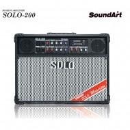 SOLO-200/SOUNDART/전기식휴대용/리버브/팬텀/블루투스/버스킹/라이브/공연/행사/USB/전기전용/200와트