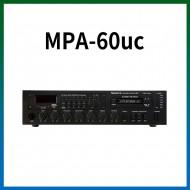 MPA-60UC/USB/SD Card/라디오/카셋트/마이크1,2,3/마이크1뮤트기능/AUX1,2/라인출력/챠임/3회로셀렉터/AC,DC24V겸용/60와트