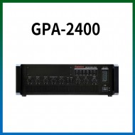 GPA-2400/마이크1,2,3,4,/마이크1뮤트기능/AUX1,2/라인출력/챠임,싸이렌/펜텀파워/5회로셀렉터/AC,DC24V겸용/240와트