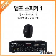 앰프스피커페키지1/앰프:BKM-50-1개/스피커:BKS-245-1개